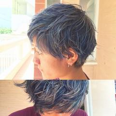 アッシュ ガーリー 大人かわいい ハイライト ヘアスタイルや髪型の写真・画像
