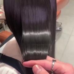 最新トリートメント トリートメント ミディアム サラサラ ヘアスタイルや髪型の写真・画像