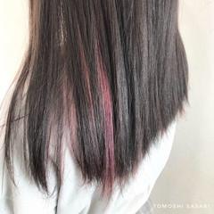 ロング ストリート インナーカラー 派手髪 ヘアスタイルや髪型の写真・画像