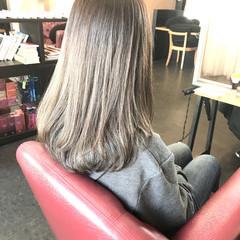 透明感 圧倒的透明感 フェミニン セミロング ヘアスタイルや髪型の写真・画像