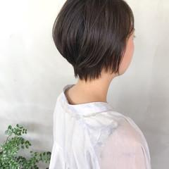 ショートボブ くびれボブ N.オイル 耳かけ ヘアスタイルや髪型の写真・画像