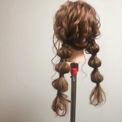 玉ねぎ ロング ヘアセット ツイン ヘアスタイルや髪型の写真・画像
