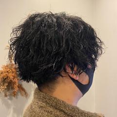 ストリート 束感 スパイラルパーマ ショート ヘアスタイルや髪型の写真・画像