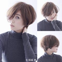 ナチュラル ショート 簡単 大人かわいい ヘアスタイルや髪型の写真・画像