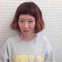 レッド ストリート 秋 卵型 ヘアスタイルや髪型の写真・画像