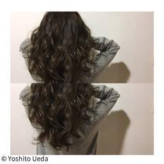 ロング 外国人風 アンニュイ ナチュラル ヘアスタイルや髪型の写真・画像