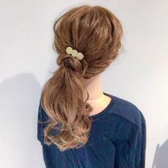 アウトドア オフィス ロング ヘアアレンジ ヘアスタイルや髪型の写真・画像