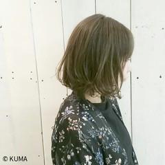 グレージュ ボブ 外ハネ 透明感 ヘアスタイルや髪型の写真・画像