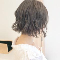 切りっぱなしボブ ナチュラル ミニボブ ウルフカット ヘアスタイルや髪型の写真・画像