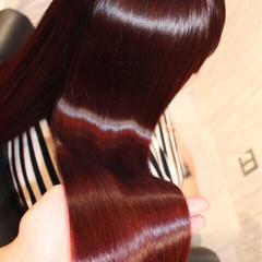 大人かわいい ロング 暗髪 モード ヘアスタイルや髪型の写真・画像