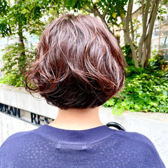 ボブ 無造作パーマ パーマ ヘアスタイルや髪型の写真・画像