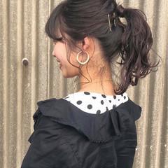 ガーリー 透明感 簡単ヘアアレンジ スポーツ ヘアスタイルや髪型の写真・画像