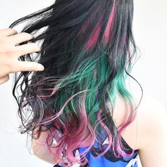 デート フェミニン グラデーションカラー ゆるふわ ヘアスタイルや髪型の写真・画像