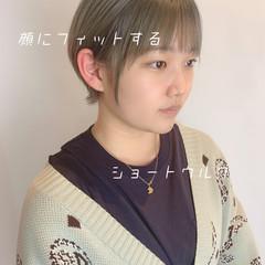 ショートヘア ベリーショート 透明感カラー ウルフカット ヘアスタイルや髪型の写真・画像