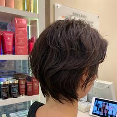 ウェットヘア 前下がりボブ ボブヘアー ナチュラル ヘアスタイルや髪型の写真・画像
