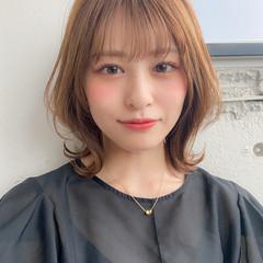 アンニュイほつれヘア デジタルパーマ フェミニン 切りっぱなしボブ ヘアスタイルや髪型の写真・画像