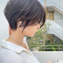 ベージュ ショート ショートヘア ショートボブ ヘアスタイルや髪型の写真・画像