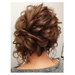 結婚式 ミディアム 成人式 デート ヘアスタイルや髪型の写真・画像