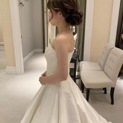 エレガント ヘアアレンジ ロング 花嫁 ヘアスタイルや髪型の写真・画像