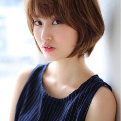 外国人風 ショートボブ ショート 大人かわいい ヘアスタイルや髪型の写真・画像
