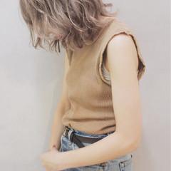 ボブ 透明感 ナチュラル ミルクティーベージュ ヘアスタイルや髪型の写真・画像