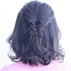 デート ボブ フェミニン ヘアアレンジ ヘアスタイルや髪型の写真・画像