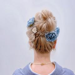 お団子アレンジ ルーズヘア ヘアアレンジ アップスタイル ヘアスタイルや髪型の写真・画像