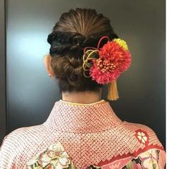 結婚式 ガーリー 簡単ヘアアレンジ ボブ ヘアスタイルや髪型の写真・画像