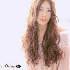 色気 ロング フェミニン ナチュラル ヘアスタイルや髪型の写真・画像