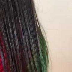 外国人風カラー エメラルドグリーンカラー ロング 外国人風 ヘアスタイルや髪型の写真・画像