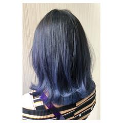 ミディアム ブリーチ ブルージュ グレージュ ヘアスタイルや髪型の写真・画像