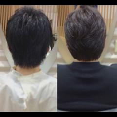 ショートヘア ナチュラル メンズスタイル ウルフカット ヘアスタイルや髪型の写真・画像