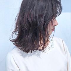 ナチュラル 外ハネボブ 切りっぱなし ピンクブラウン ヘアスタイルや髪型の写真・画像