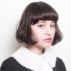 ニュアンス 小顔 ナチュラル 黒髪 ヘアスタイルや髪型の写真・画像