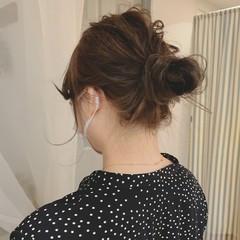 ナチュラル 簡単ヘアアレンジ アンニュイほつれヘア ゆるふわ ヘアスタイルや髪型の写真・画像