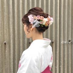 謝恩会 ヘアアレンジ ガーリー 成人式 ヘアスタイルや髪型の写真・画像