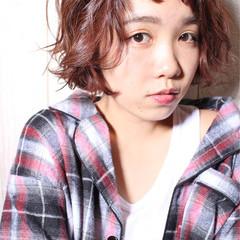 小顔 外国人風 ショート 大人女子 ヘアスタイルや髪型の写真・画像