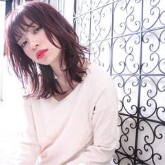 レイヤーカット 春 ミディアム ナチュラル ヘアスタイルや髪型の写真・画像