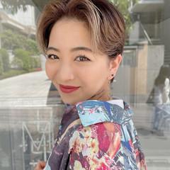 ストリート ブリーチカラー ショート ハンサムショート ヘアスタイルや髪型の写真・画像