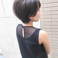ショート ベリーショート ナチュラル 小顔ショート ヘアスタイルや髪型の写真・画像