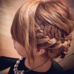 コンサバ パーティ まとめ髪 編み込み ヘアスタイルや髪型の写真・画像