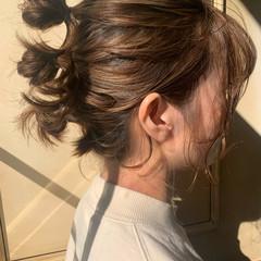 外ハネボブ パーマ 切りっぱなしボブ ヘアスタイルや髪型の写真・画像