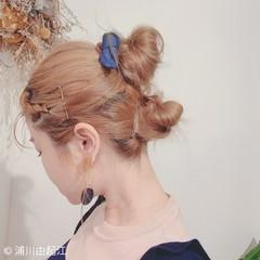 フェミニン ヘアアレンジ ゆるふわ ハイライト ヘアスタイルや髪型の写真・画像