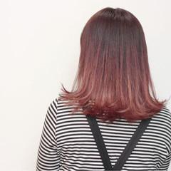 デート ピンク ストリート ミルクティー ヘアスタイルや髪型の写真・画像
