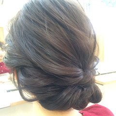 ヘアアレンジ セミロング 大人かわいい 結婚式 ヘアスタイルや髪型の写真・画像