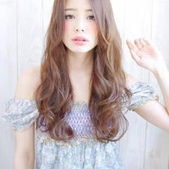 大人かわいい ゆるふわ ロング コンサバ ヘアスタイルや髪型の写真・画像