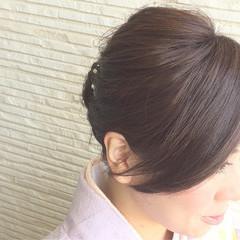 ヘアアレンジ ミディアム 和装 まとめ髪 ヘアスタイルや髪型の写真・画像