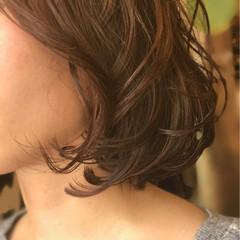 イルミナカラー ナチュラル ボブ 艶髪 ヘアスタイルや髪型の写真・画像