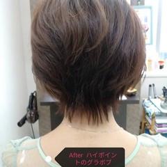 フェミニン ショート 大人女子 ヘアスタイルや髪型の写真・画像