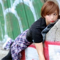 ストリート 大人かわいい ショート 秋 ヘアスタイルや髪型の写真・画像